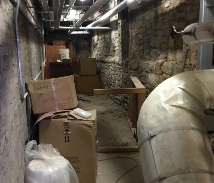 Basement Steam Pipe Bursts in a Madison Commercial Property