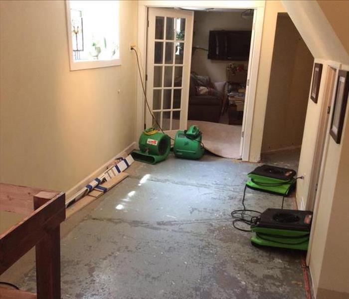Flooded Finished Basement In Madison