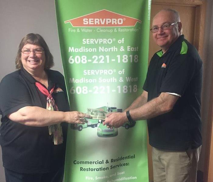 Community SERVPRO of Madison Marketing Rep, Al Northouse Donates Weight Loss Winnings to American Diabetes Association